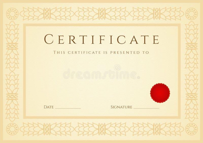 Предпосылка сертификата диплома шаблон Рамка Иллюстрация   Предпосылка сертификата диплома шаблон Рамка Иллюстрация вектора иллюстрации 31348205
