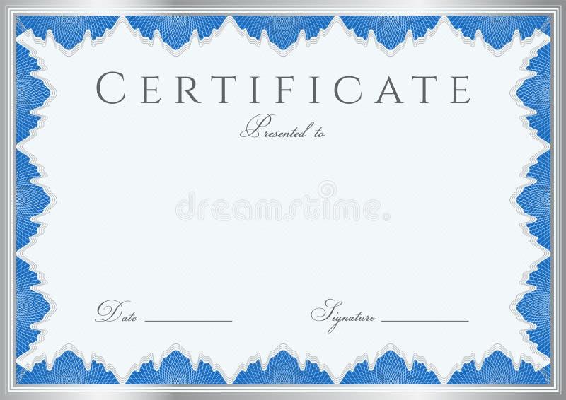 Предпосылка сертификата диплома шаблон Рамка Иллюстрация   Предпосылка сертификата диплома шаблон Рамка Иллюстрация вектора иллюстрации насчитывающей сложно