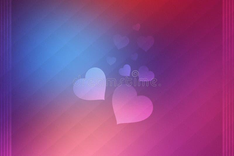 Предпосылка сердец влюбленности валентинки стоковые изображения