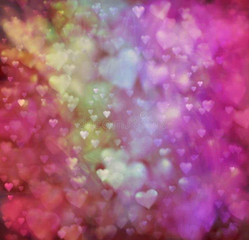 Предпосылка сердец влюбленности иллюстрация штока