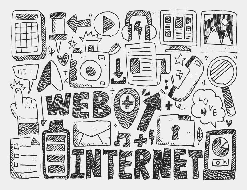 Предпосылка сети Doodle бесплатная иллюстрация