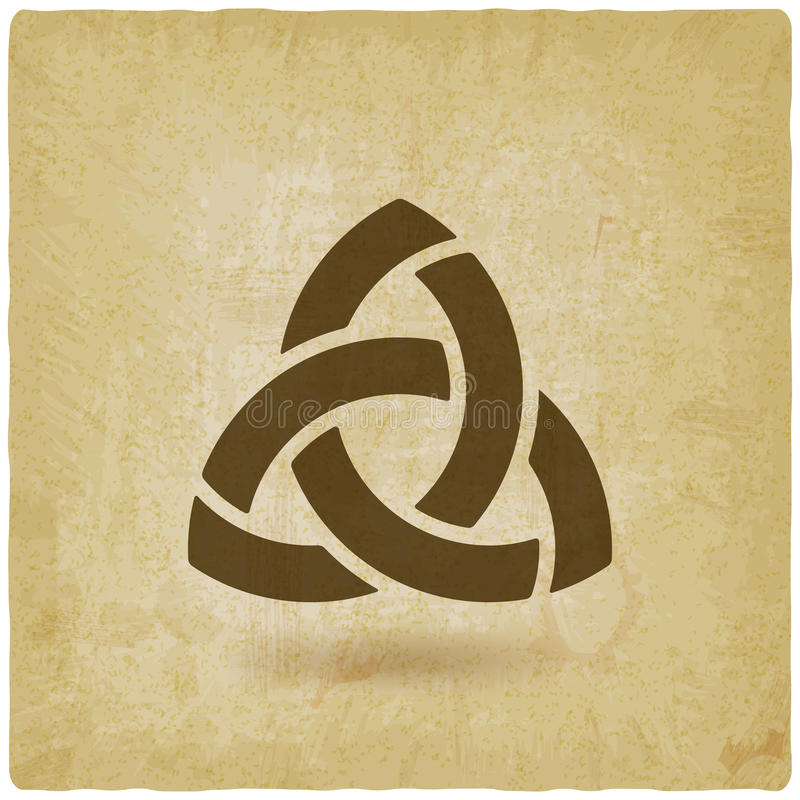 Предпосылка символа Triquetra старая иллюстрация штока