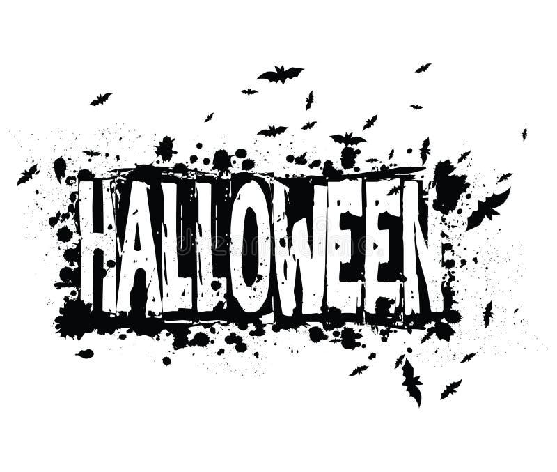Предпосылка силуэта grunge хеллоуина иллюстрация вектора