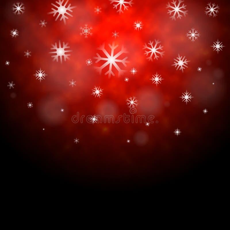 Предпосылка снежинок красная значит обои сезона зимы иллюстрация вектора