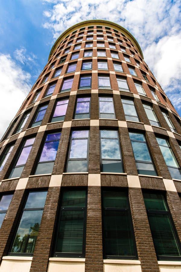 Предпосылка современного небоскреба стоковое фото rf