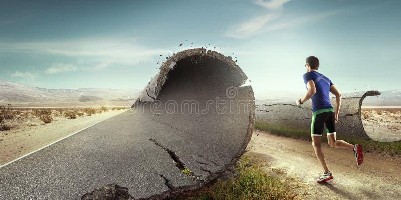 Предпосылка спорта бегунок стоковая фотография rf