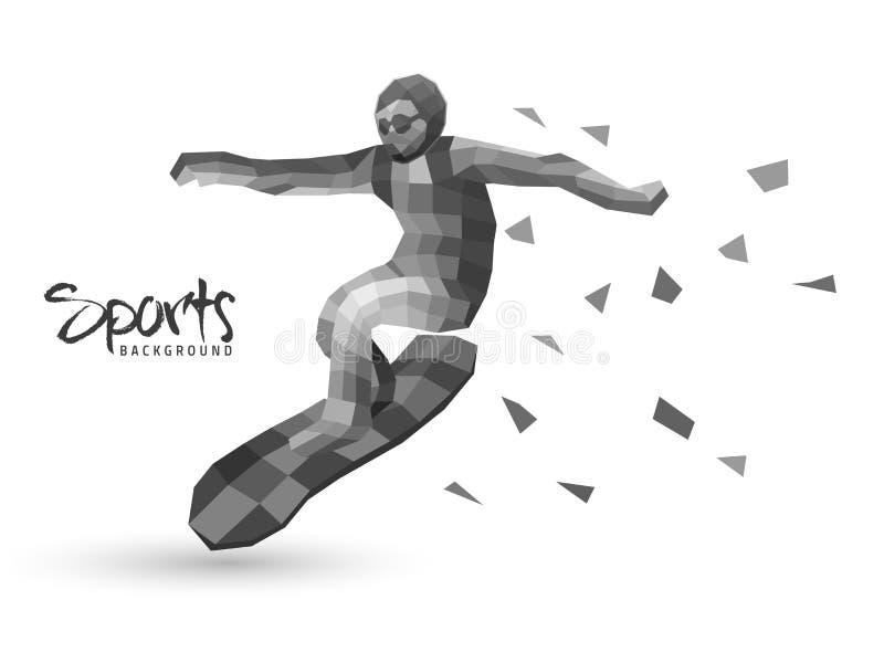 Предпосылка спорт с серфером бесплатная иллюстрация