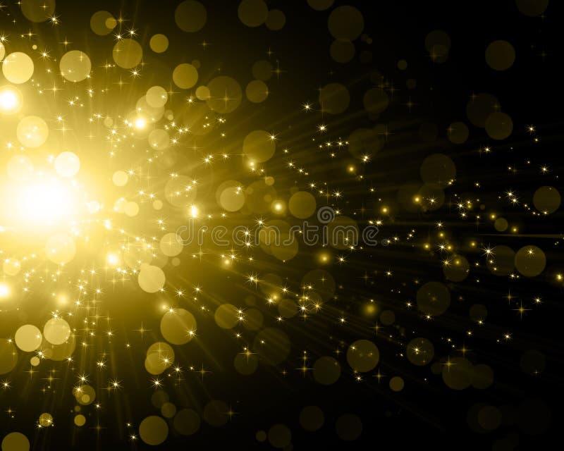 предпосылка 8 спуская звезды снежинок архива eps включенные иллюстрация вектора