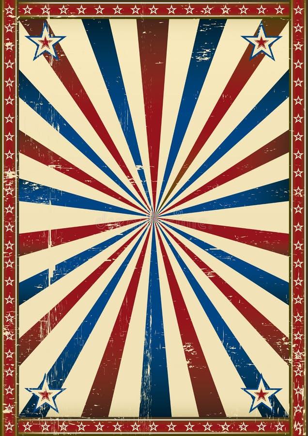 Предпосылка старого плаката патриотическая иллюстрация вектора