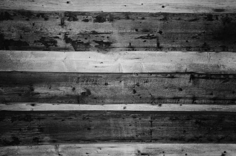 Предпосылка старой деревянной стены черно-белая стоковая фотография rf