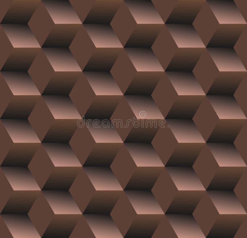 Предпосылка старой школы безшовная, диамант - шоколад иллюстрация вектора