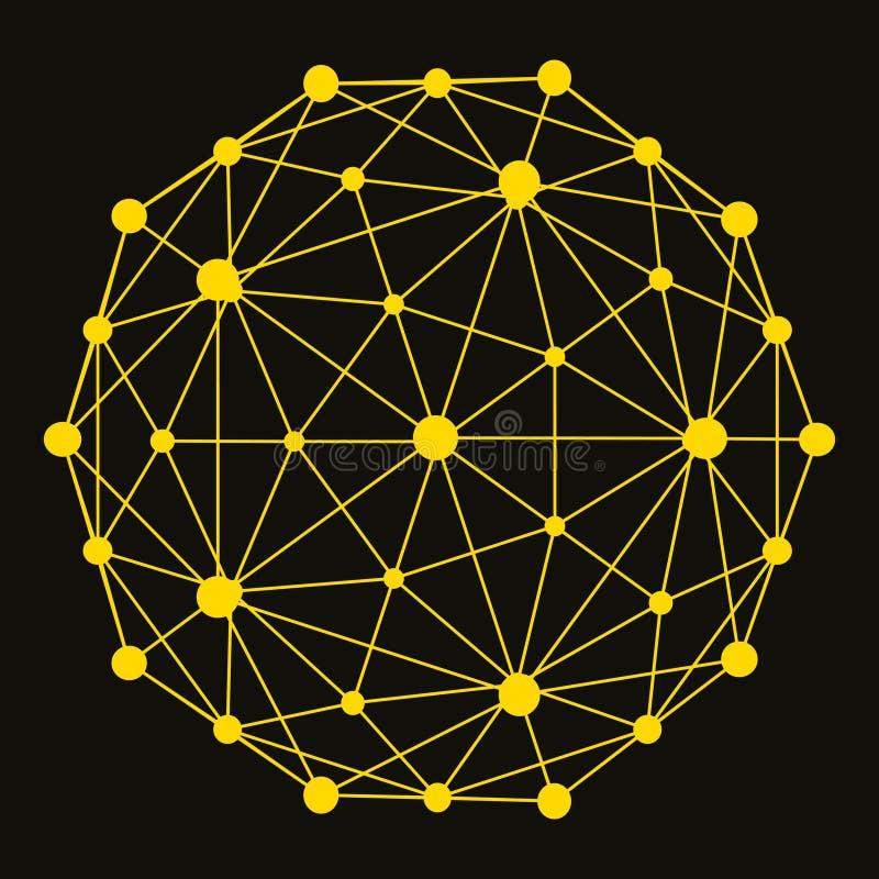 предпосылка структуры молекулы 3D конструируйте график иллюстрация вектора
