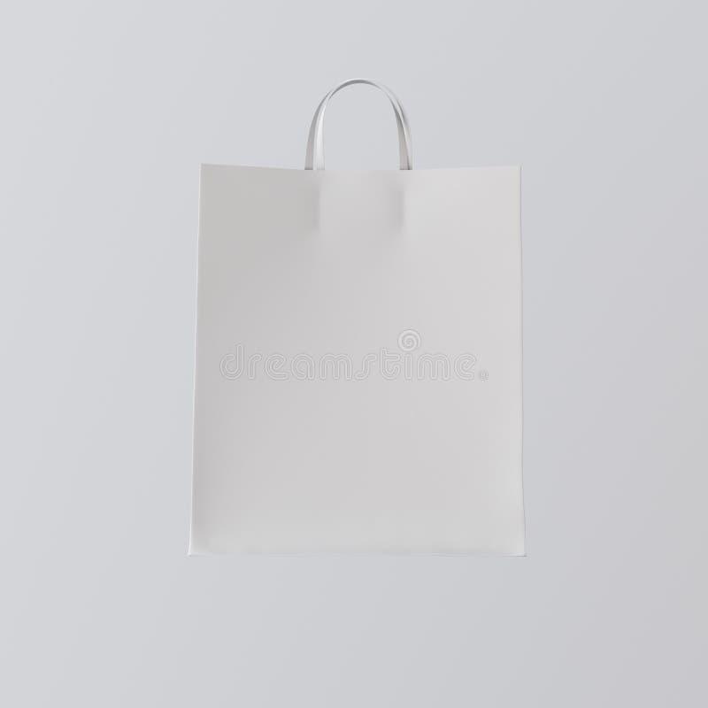 Предпосылка сумки белой бумаги крупного плана изолированная разбивочная серая пустая Материалы текстуры модель-макета сильно дета стоковое фото