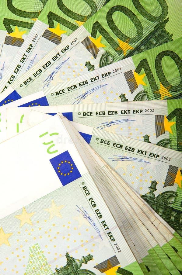 Предпосылка счетов евро стоковое фото rf