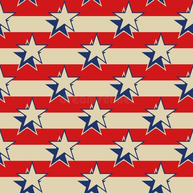 Предпосылка США нашивок звезд патриотическая безшовная иллюстрация штока