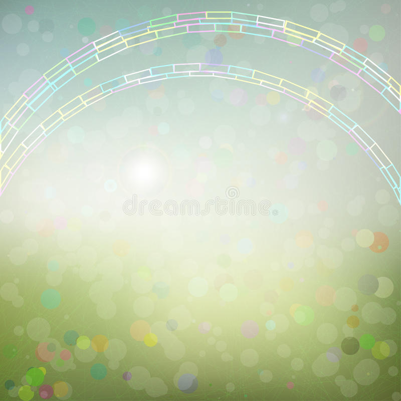 Предпосылка с абстрактной радугой иллюстрация штока