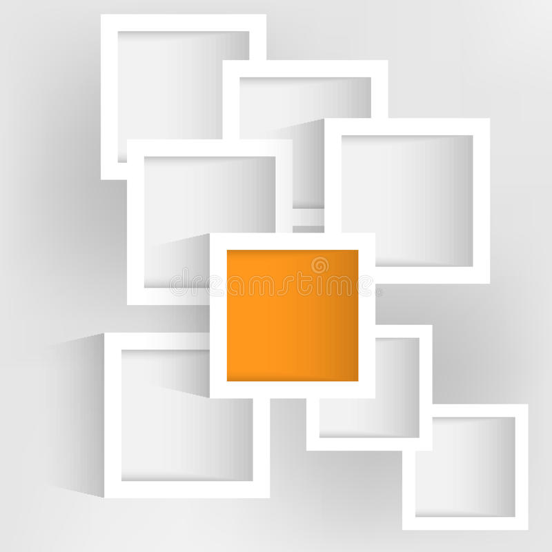 Предпосылка с белыми прямоугольниками конспекта вектора иллюстрация вектора