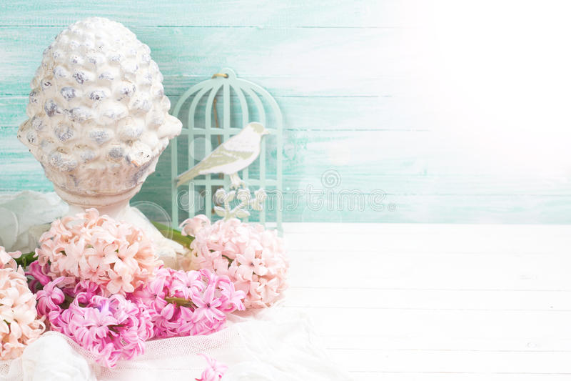 Предпосылка с гиацинтами свежих цветков стоковые изображения