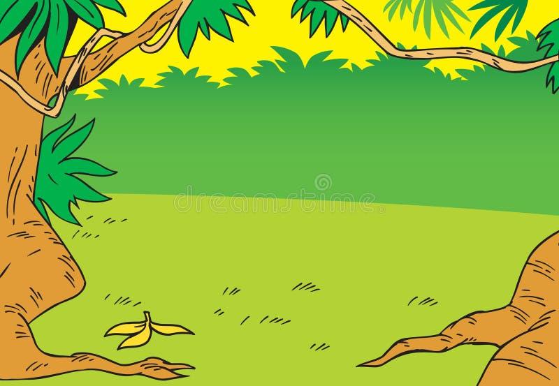 Предпосылка с джунглями шаржа бесплатная иллюстрация