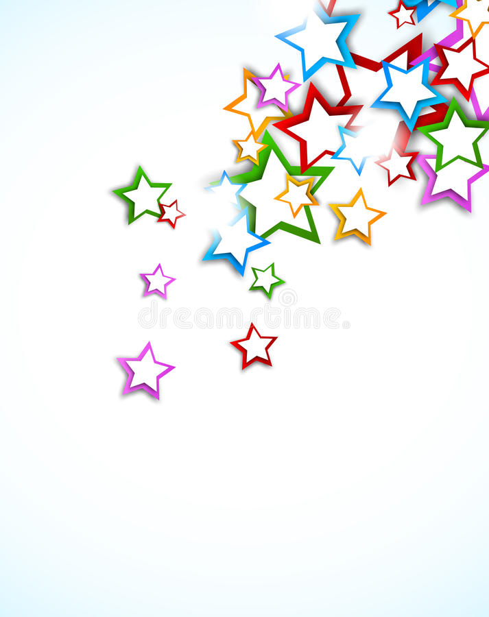 Предпосылка с звездами иллюстрация вектора