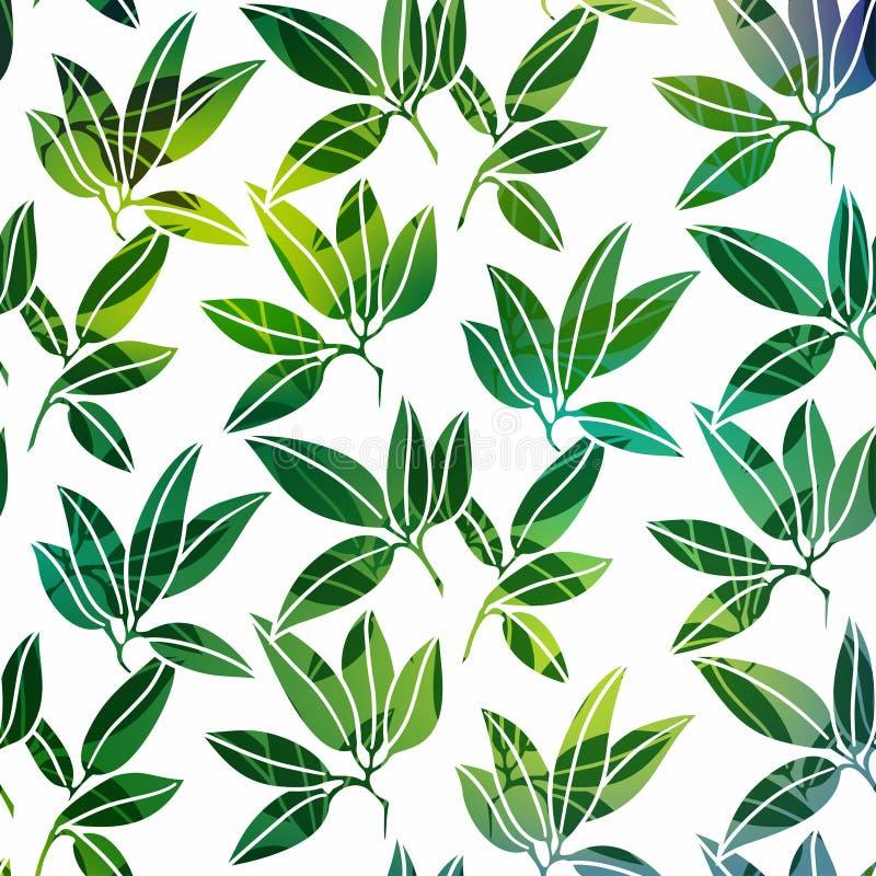 Предпосылка с листьями ладони иллюстрация вектора