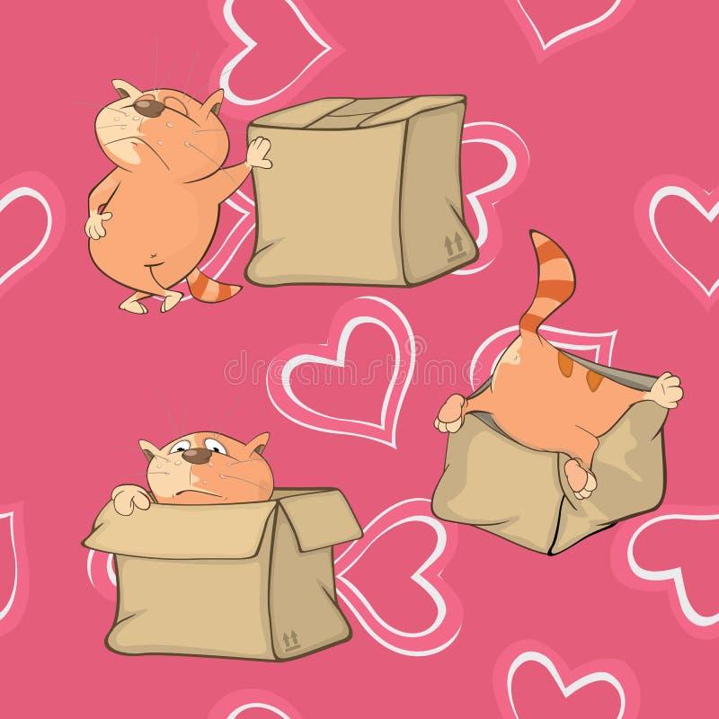 Предпосылка с котами картина безшовная иллюстрация вектора