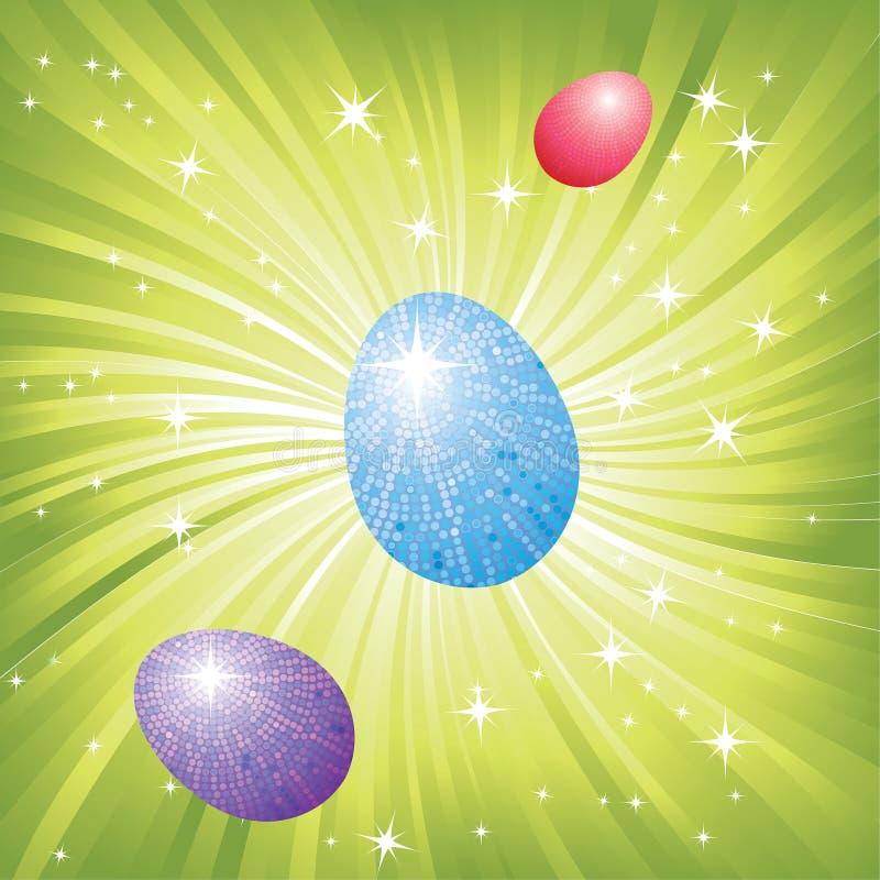 Предпосылка с пасхальными яйцами иллюстрация штока