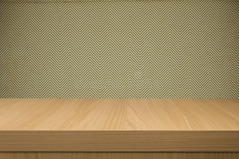 Предпосылка с пустой деревянной таблицей палубы бесплатная иллюстрация