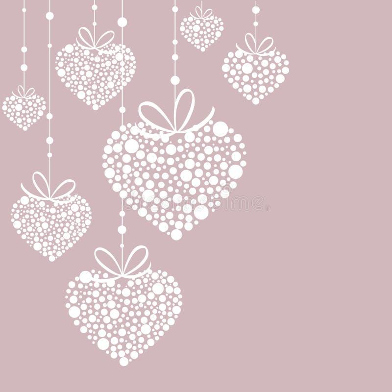 Предпосылка с сердцами иллюстрация штока