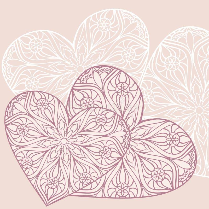 Предпосылка с сердцами иллюстрация вектора