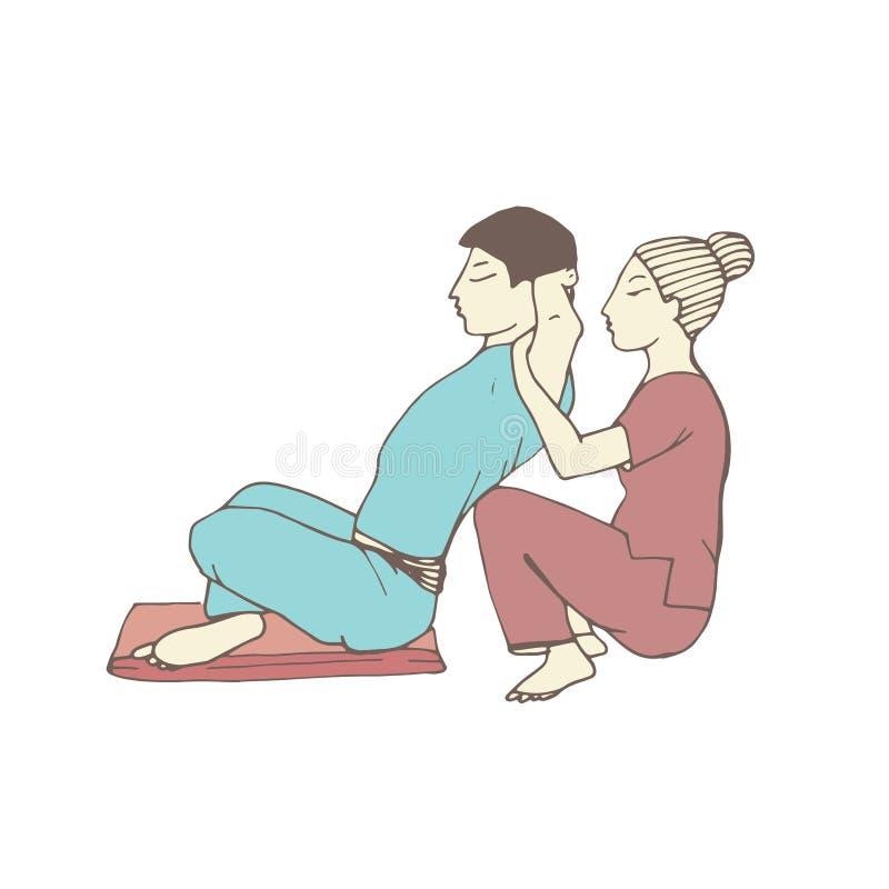 Предпосылка тайского массажа белая внутри стоковая фотография rf