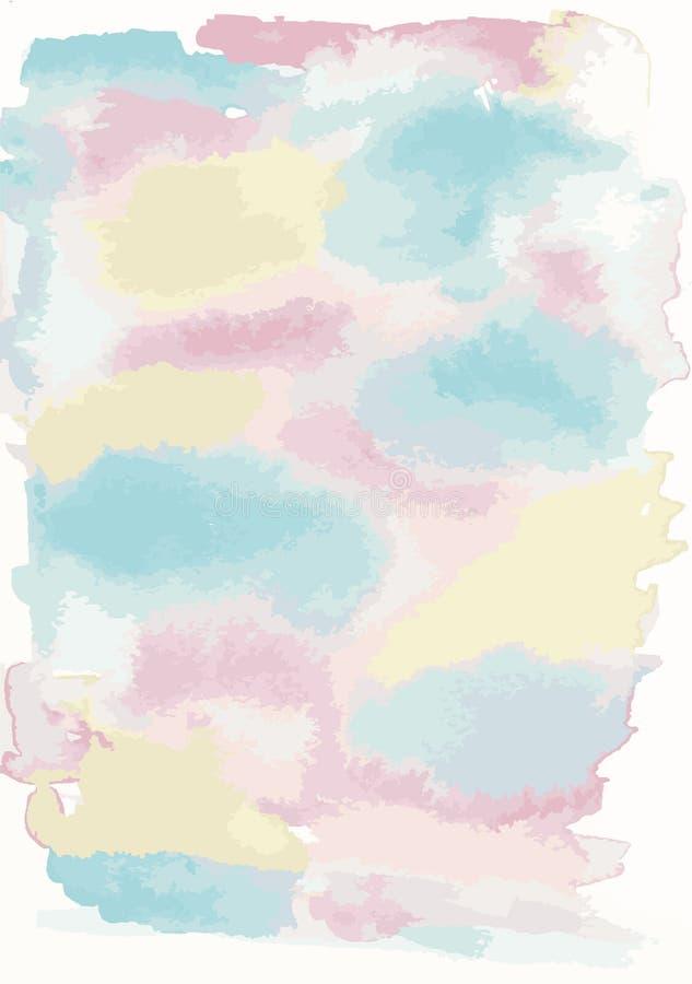 Предпосылка текстурированная Watercolour иллюстрация штока