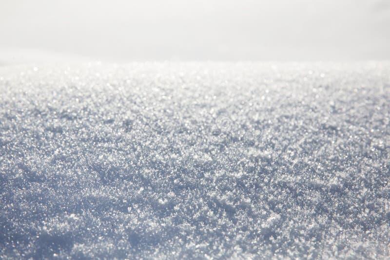 Предпосылка текстуры или зимы снега стоковая фотография