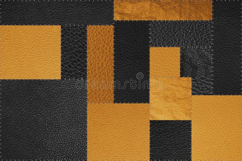 Предпосылка текстуры картины заплаты безшовного, черного и желтого золота стоковые фото
