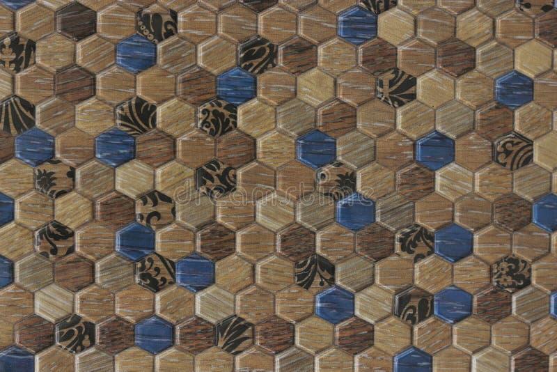 предпосылка текстуры плитки картины шестиугольника 3d стоковое фото