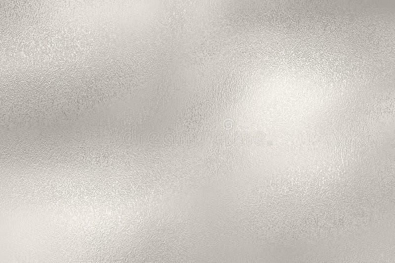 Предпосылка текстуры серебряной фольги стоковая фотография rf