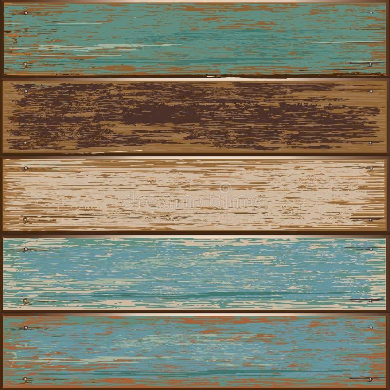 Предпосылка текстуры старого цвета деревянная. иллюстрация штока