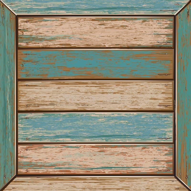 Предпосылка текстуры старого цвета деревянная. иллюстрация вектора
