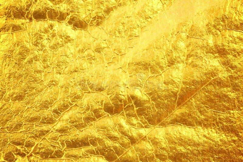Предпосылка текстуры сусального золота стоковые изображения rf