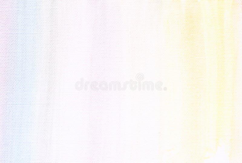 Предпосылка текстуры холста с тонкими нашивками акварели стоковая фотография