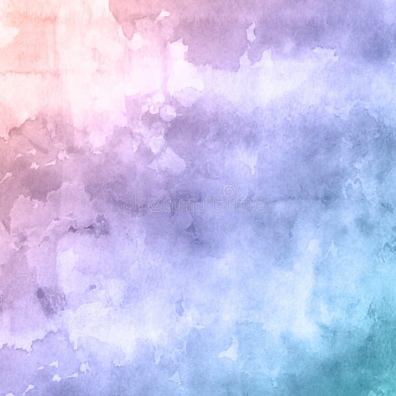 Предпосылка текстуры Watercolour иллюстрация штока