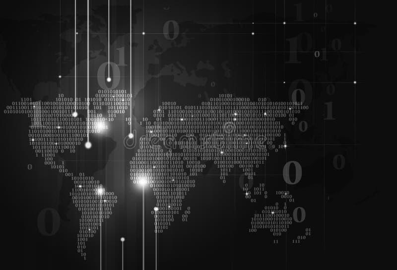 Download Предпосылка темноты карты бинарного кода Стоковое Изображение - изображение насчитывающей backhoe, concept: 41660859