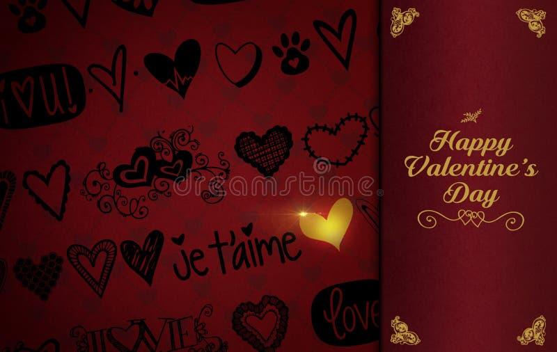 Предпосылка темы дня ` s валентинки St стоковое изображение