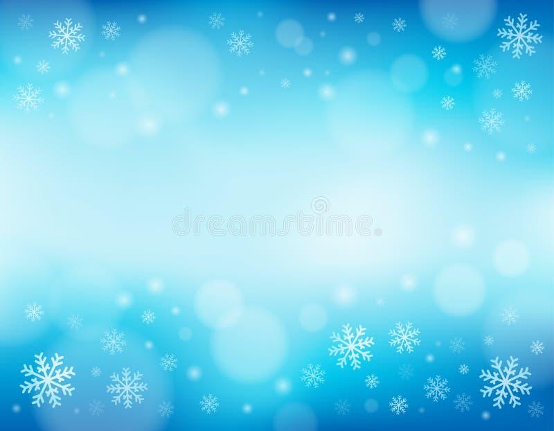 Предпосылка 1 темы снежинки иллюстрация штока