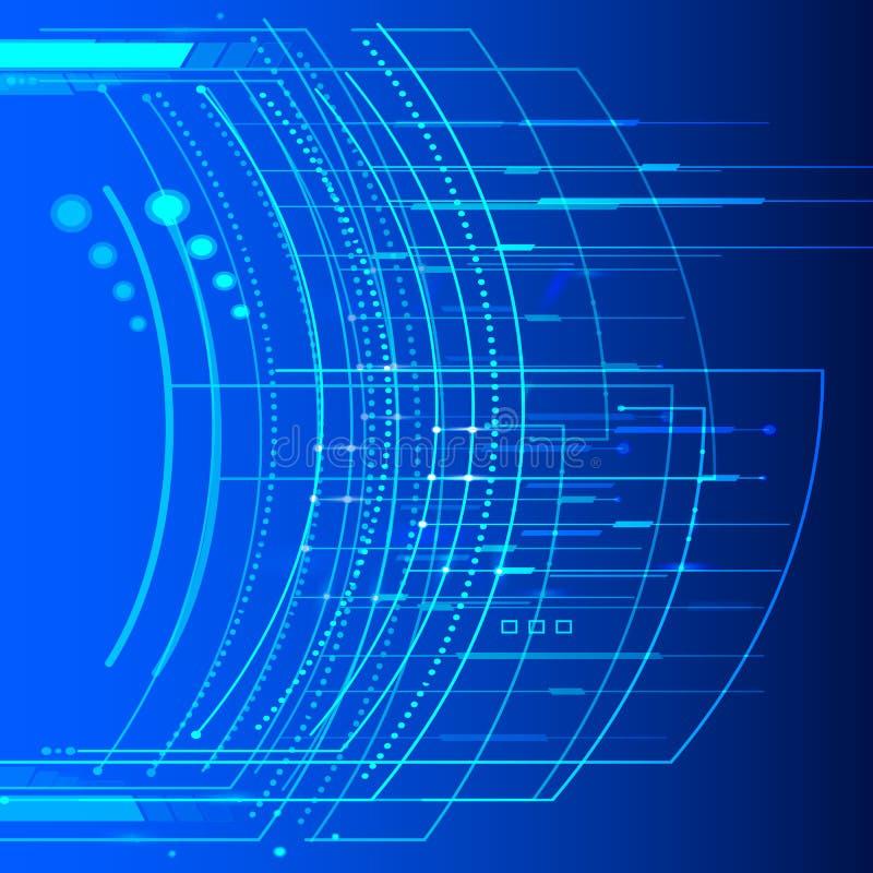 Предпосылка технологии абстрактная растет яркий светлый элемент 006 иллюстрация вектора