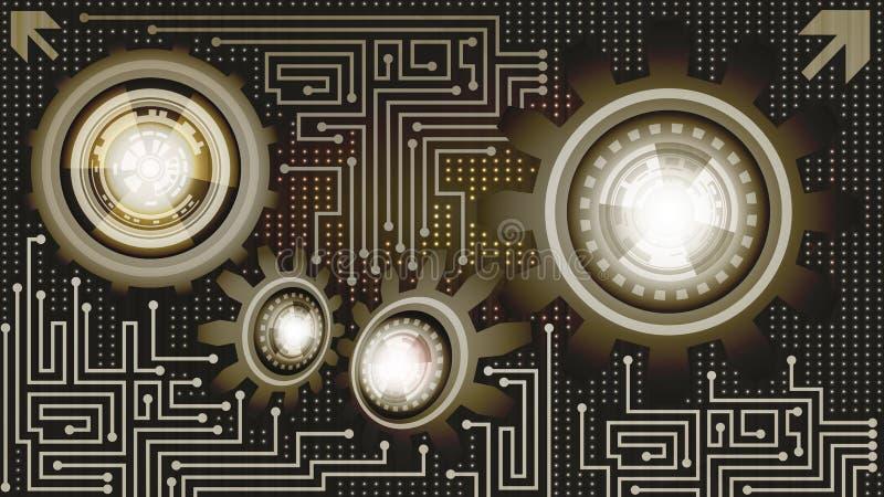 Предпосылка технологии коричневых, черных и бежевых теней иллюстрация вектора