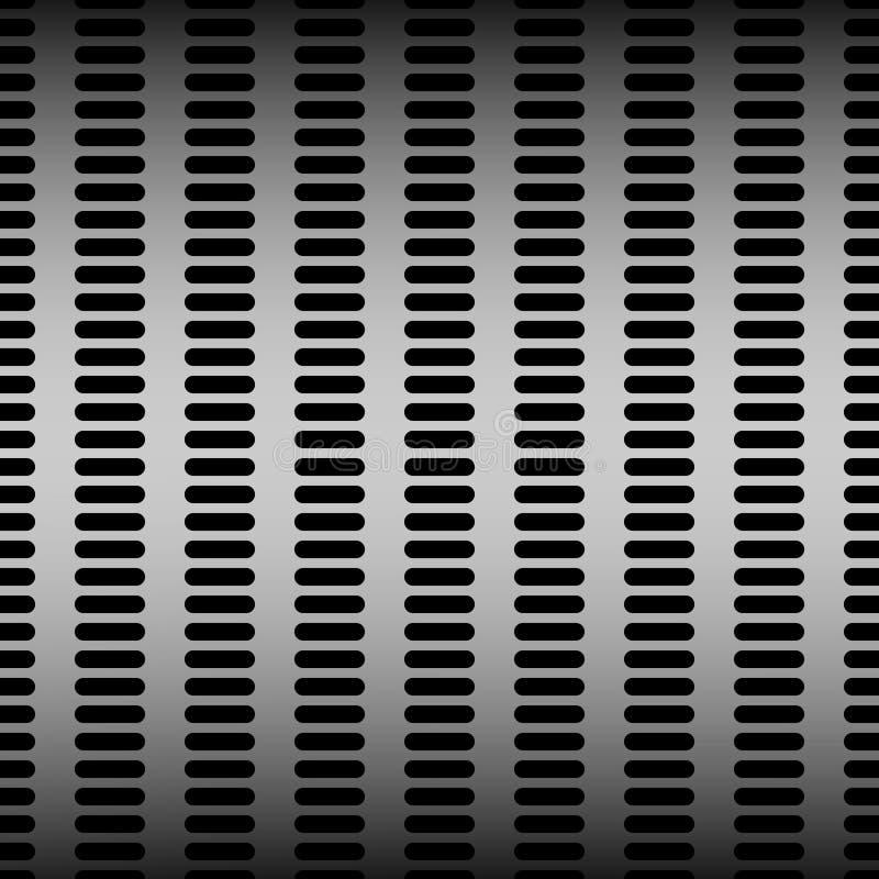 Предпосылка технологии с картиной хрома, серебра, нержавеющей стали, железного и безшовных текстуры металла пефорированной бесплатная иллюстрация