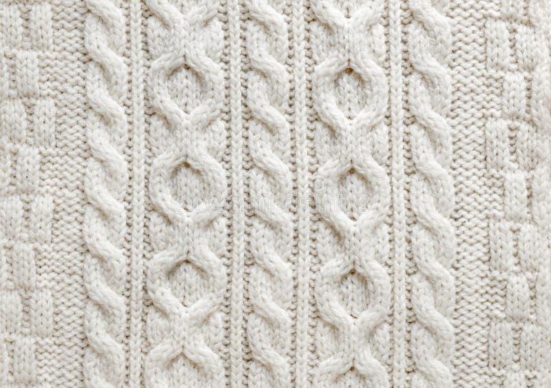 Предпосылка ткани knit кабеля стоковые изображения rf