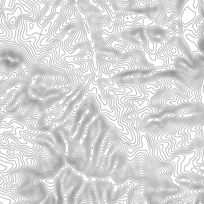 Предпосылка топографической карты с космосом для экземпляра Выровняйте предпосылку контура карты топографии, географический консп бесплатная иллюстрация