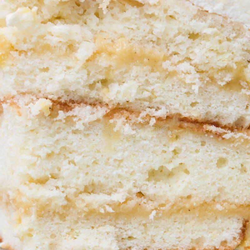 Предпосылка торта лимона Стоковая Фотография RF